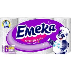 Prosoape de hartie EMEKA Forrest Fruits, 3 straturi, 4 role