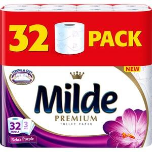 Hartie igienica MILDE Relax Purple, 3 straturi, 32 role