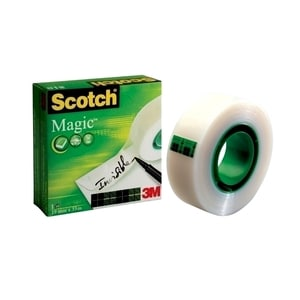 Banda adeziva 3M Scotch Magic, 6 + 2 role, 19 mm x 33 m