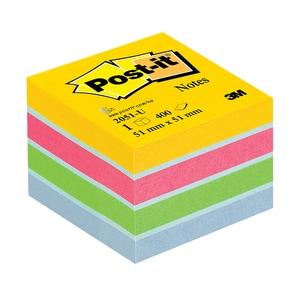 Minicub notite adezive  3M, 400 file, 51 x 51mm, diverse culori