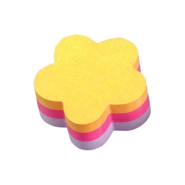 Notite adezive 3M Aquarelle, 225 file, forma floare, diverse culori