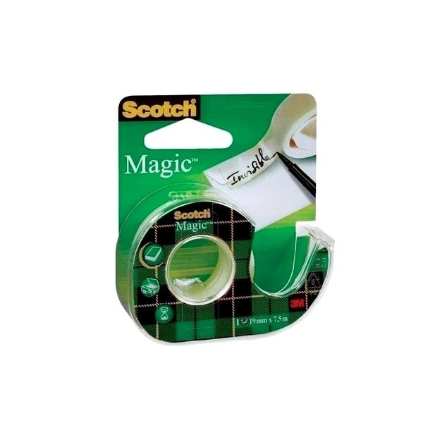 Banda adeziva cu dispenser 3M Scotch magic, 19 mm x 7.5 m