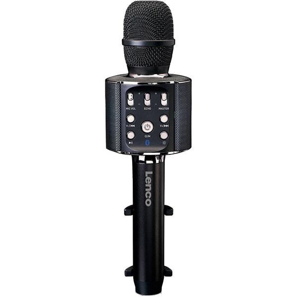 Microfon karaoke LENCO BMC-090BK, Bluetooth, USB, negru