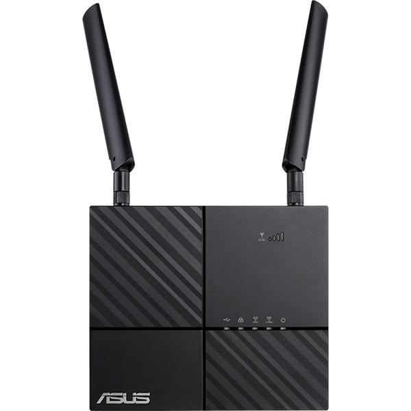 Router Wireless Gigabit ASUS 4G-AC53U AC750, Dual-Band 300 + 433 Mbps, USB 2.0, negru