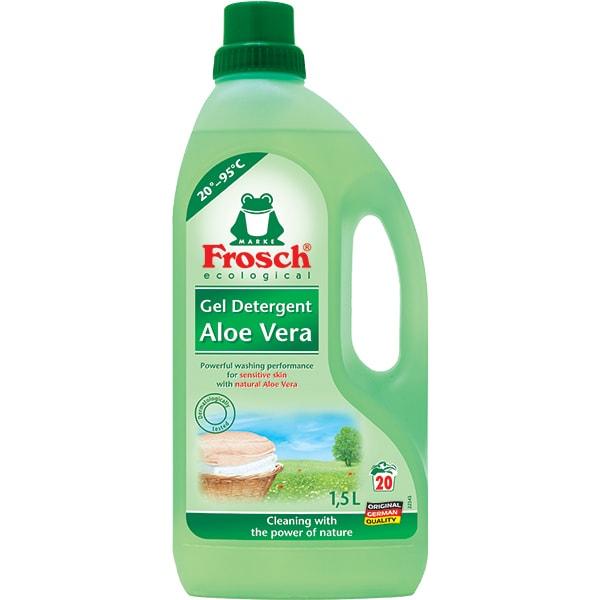 Detergent lichid ecologic FROSCH, Aloe Vera, 1.5l, 20 spalari
