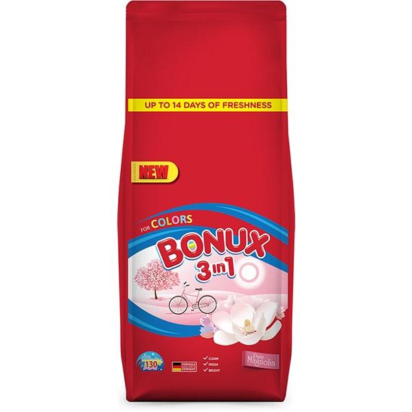 Detergent automat BONUX 3IN1 Color Pure Magnolia, 13Kg, 130 spalari