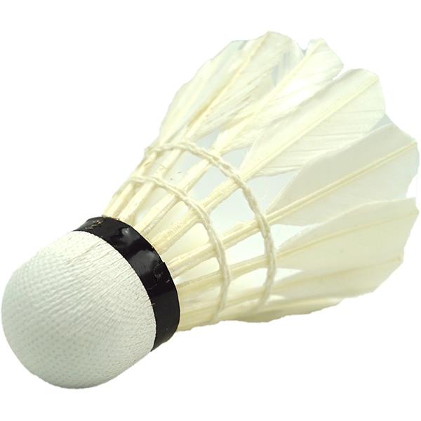 Fluturas badminton BEST SPORTING 41202, pana, 6 bucati, alb