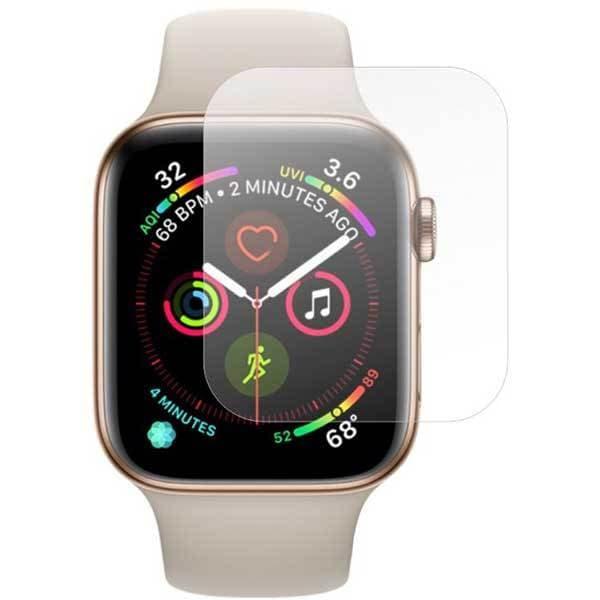 Folie protectie pentru Apple Watch Series 5 44mm, SMART PROTECTION, 2 folii incluse, polimer, display, transparent