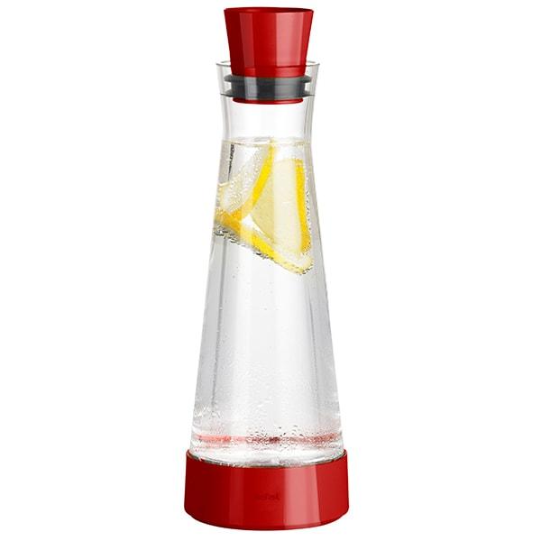 Carafa TEFAL Flow Slim K3052112, 1l, sticla, rosu