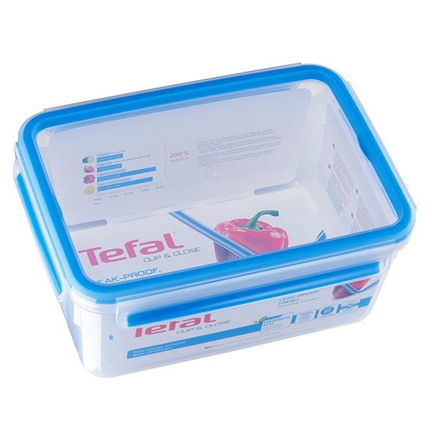 Caserola TEFAL Clip&Close K3021512, 2.3l, plastic, transparent