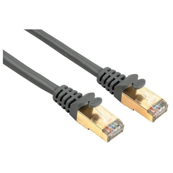 Cablu de retea STP Cat5e HAMA 41895, 3m, gri