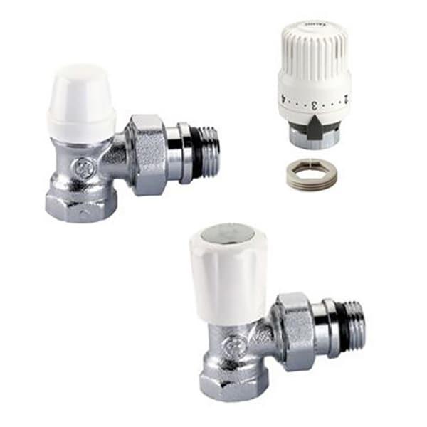 """Set robineti calorifer CALEFFI 42401420, tur temostatabil + retur + cap termostatat, 1/2"""" FI-FE"""