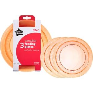 Set farfurii TOMMEE TIPPEE Essential, 12 luni +, 3 buc, portocaliu