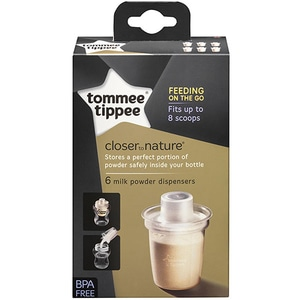 Doza lapte praf TOMMEE TIPPEE, 6 buc, transparent
