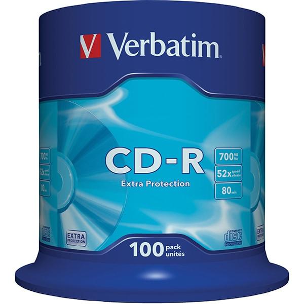 CD-R VERBATIM 43411, 52x, 700MB, 100buc
