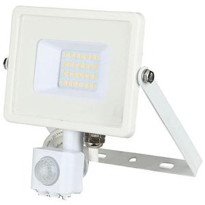 Proiector LED V-TAC 448, 20W, 1600 lumeni, IP65, lumina calda, alb