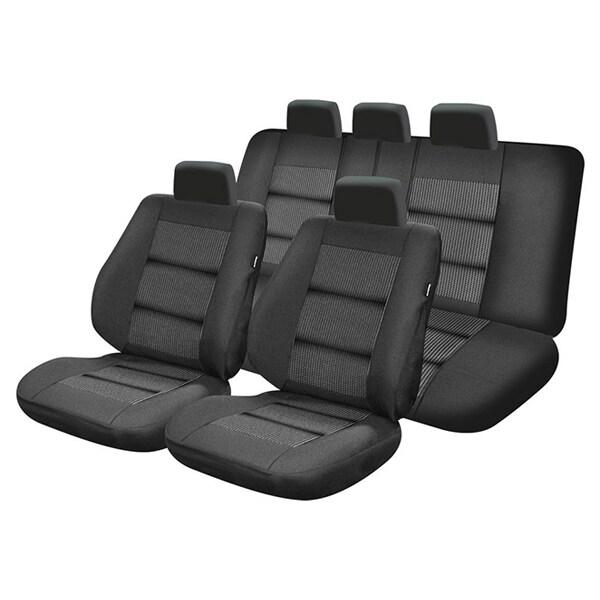 Set huse scaune UMBRELLA Premium Lux M01, negru