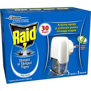Aparat electric anti-tantari RAID Liquid, 30 nopti, 21 ml