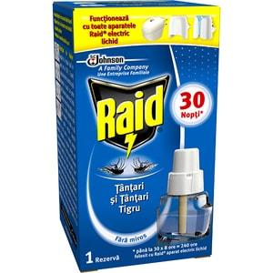 Rezerva aparat electric anti-tantari RAID, 30 nopti, 21 ml