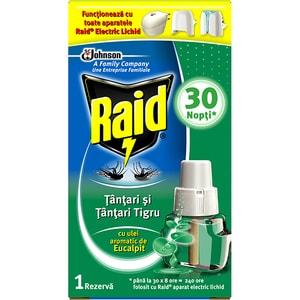 Rezerva aparat electric anti-tantari RAID Eucalipt, 30 nopti, 21 ml