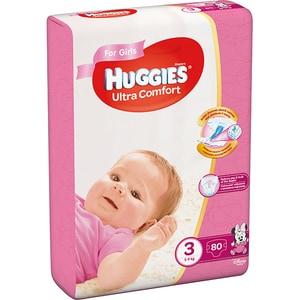 Scutece HUGGIES Ultra Comfort nr 3, Fata, 5-9 kg, 80 buc