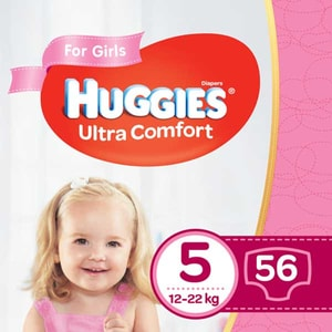 Scutece HUGGIES Ultra Comfort nr 5, Fata, 12-22 kg, 56 buc