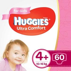 Scutece HUGGIES Ultra Comfort nr 4+, Fata, 10-16 kg, 60 buc