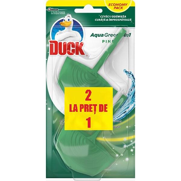 Odorizant toaleta DUCK Aqua Green, 2x40g