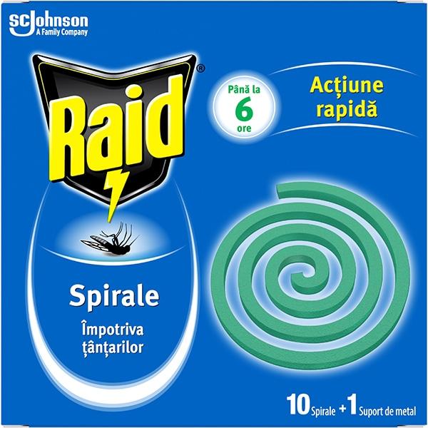 Spirale anti-tantari RAID, 10 buc