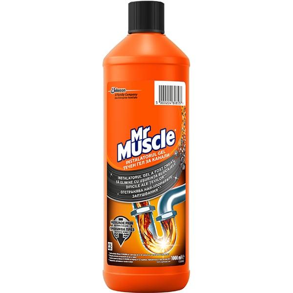 Gel pentru desfundat tevi MR. MUSCLE, 1000ml