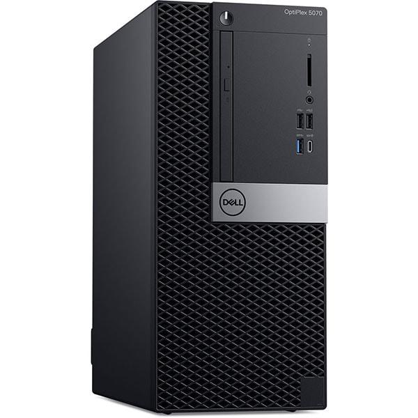 Sistem Desktop PC DELL OptiPlex 5070 MT, Intel Core i7-9700 pana la 4.7GHz, 16GB, SSD 256GB, Intel UHD Graphics 630, Windows 10 Pro