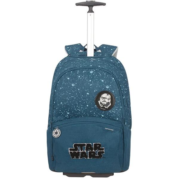 Ghiozdan cu roti SAMSONITE Funtime Disney Star Wars Intergalactic, albastru