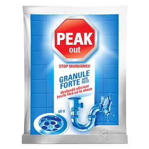 Granule pentru desfundat tevi PEAK OUT Apa rece, 60g