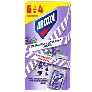 Tablete gel anti-molii si acarieni AROXOL Lavanda, 6 buc