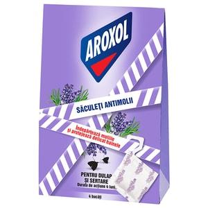 Saculeti anti-molii AROXOL Lavanda, 4 bucati