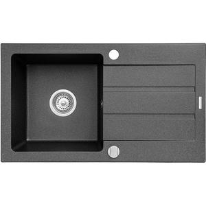 Chiuveta bucatarie PYRAMIS NEXT, 1 cuva, picurator reversibil, compozit granit, negru