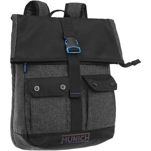 Rucsac MUNICH Black to color 5232351, compartiment laptop, negru
