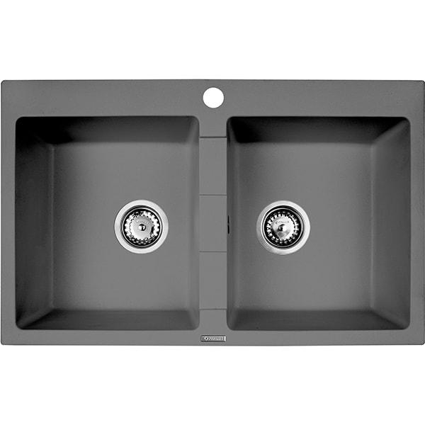 Chiuveta bucatarie PYRAMIS Premium Bowls, 2 cuve, compozit granit, grey