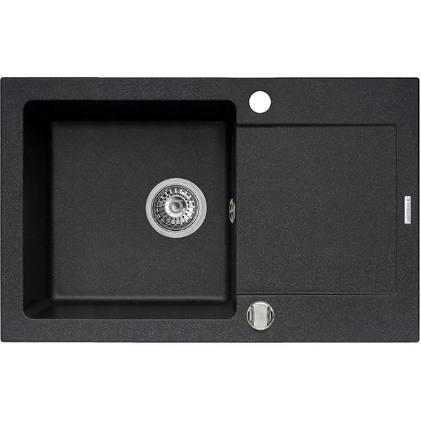 Chiuveta bucatarie PYRAMIS Premium Plus, 1 cuva, compozit granit, negru