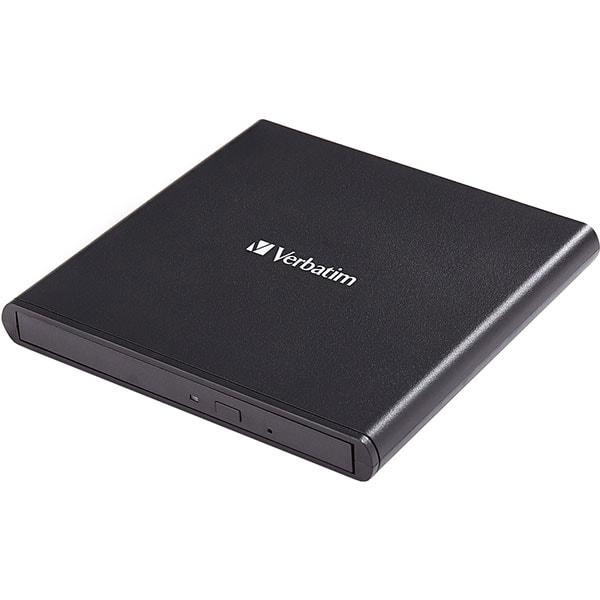DVD-RW extern VERBATIM Slimline 53504, USB 2.0, negru