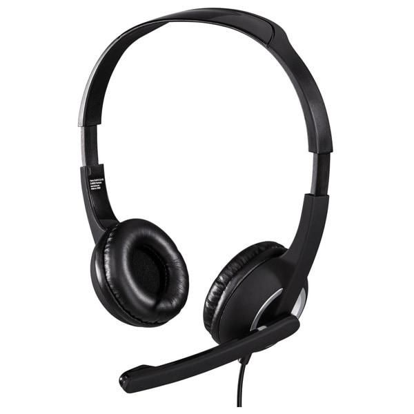 Casti PC HAMA Essential HS 300, 3.5mm, negru