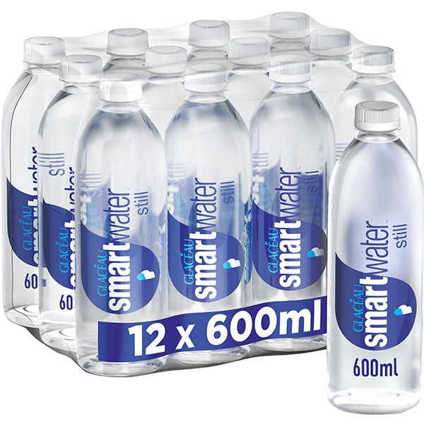 Apa plata SMART WATER GLACEAU bax 0.6L x 12 sticle