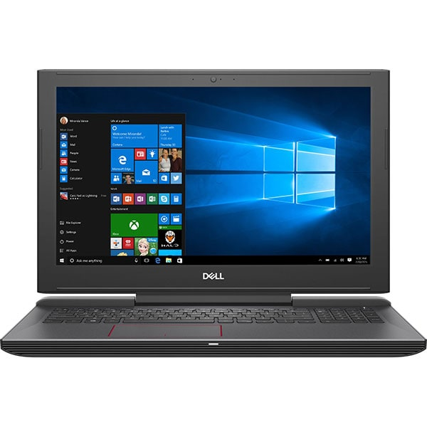 "Laptop Gaming DELL G5 5587, Intel Core i7-8750H pana la 4.1GHz, 15.6"" Full HD, 16GB, 1TB + SSD 256GB, NVIDIA GeForce GTX 1060 6GB, Windows 10 Home, Negru"