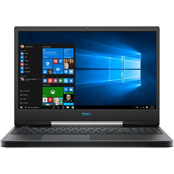 "Laptop Gaming DELL G5 5590, Intel Core i7-8750H pana la 4.1GHz, 15.6"" Full HD, 8GB, 1TB + SSD 128GB, NVIDIA GeForce RTX 2060 6GB, Windows 10 Home, Negru"