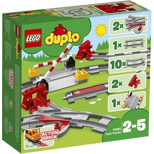 LEGO Duplo: Sine de cale ferata 10882, 2 - 5 ani, 23 piese
