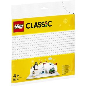 LEGO Classic: Placa de baza alba 11010, 4 ani+, 1 piesa