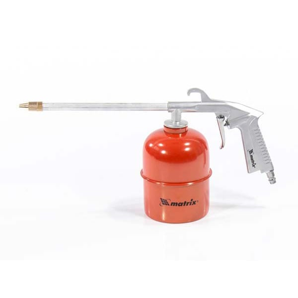 Pistol pneumatic pentru spalare MTX 573409, duza alungita, rosu-argintiu
