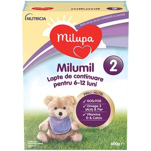 Lapte praf MILUPA MILUMIL 2 PreciNutri 615699, 6-12 luni, 600g