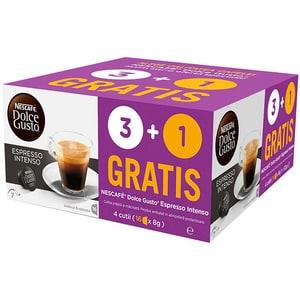 Capsule cafea NESCAFE Dolce Gusto Espresso Intenso 3+1 gratuit, 64 capsule, 448g