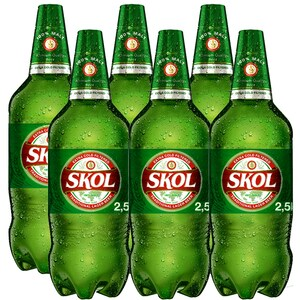 Bere blonda Skol 2.5L x 6 sticle